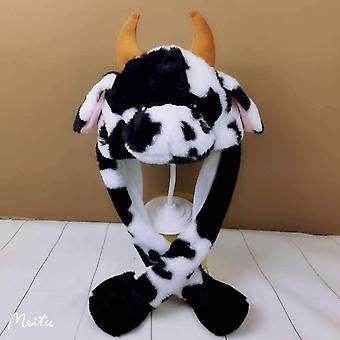 Cow Hat Cute Rabbit Hat z lekkim powietrzem float napełniania ucha ruchomych czapka.