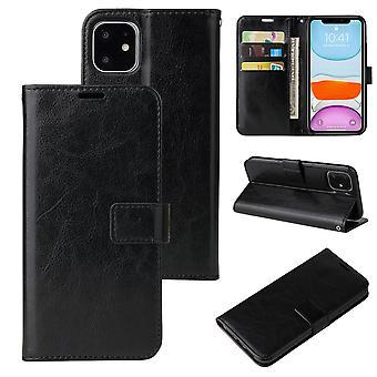 Flip Folio Ledertasche für Iphone 6 plus schwarz pns-3191
