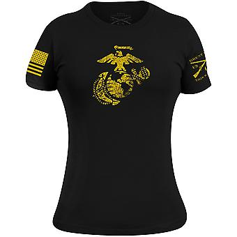 Grunt Style Naisten USMC - EGA T-paita - Musta