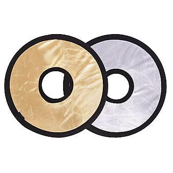 30Cm 2in1 round hollow collapasible multi-disc portable circular light lens-mount reflector