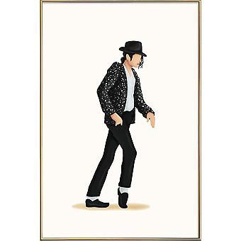 JUNIQE Print - Moonwalk - Michael Jackson Poster in Black & White