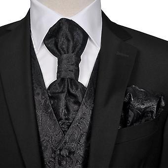 Set de gilets de mariage pour hommes Paisley Taille 56 Noir