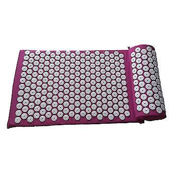 Oreiller et tapis de massage d'acupuncture violet pour le soulagement des maux de dos x6527