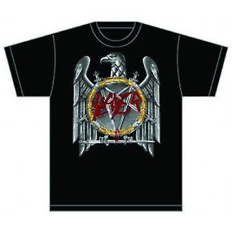 Dräpare (Silver) Eagle Mens T Shirt: Stor