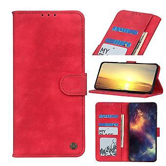 FONU Retro Boekmodel Hoesje Samsung Galaxy A22 5G - Rood