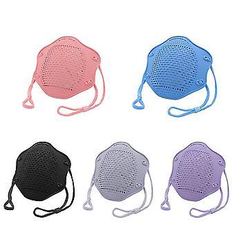 5Kpl sininen kn95 suoja maski elintarvikelaatuinen silikoni naamio viisikerroksinen suodatin pölysuojamaski az10949
