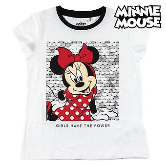 Barnets korte ærmer T-shirt Minnie Mouse White