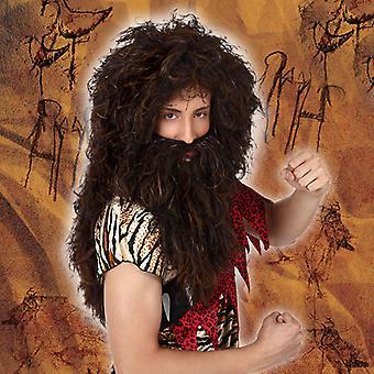 Wig with Beard Dark brown 119560