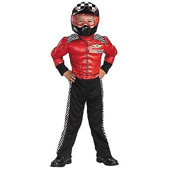 توربو متسابق سباق سيارة سائق دراجة نارية رياضة طفل طفل بويز زي