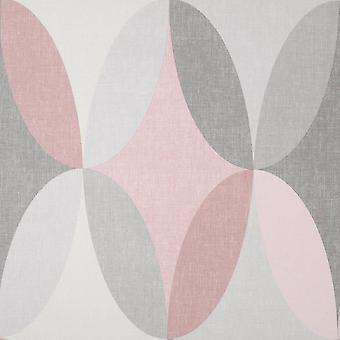 Crown Kirby soikea geo vaaleanpunainen taustakuva M1638