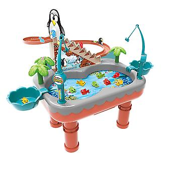 Baby Bath Toys Penguin Slide Magnetic Fishing Toy Pool Set Children's Baby Gifts  Toys
