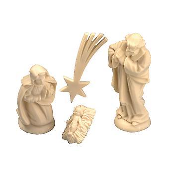 Mini jul Christian Julekrybbe med stander til at dekorere