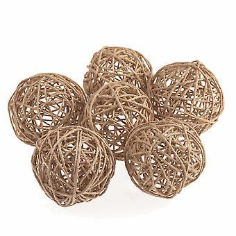 6 4,5 cm natuurlijke jute decoratieve ballen voor bloemisterij ambachten