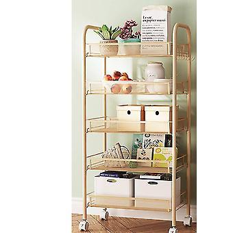 Kitchen islands 3/4/5 tier trolley cart dining shelf rack basket storage drawers wheels