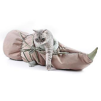 Kissan taittuva riippumatto, Lotus Root Kehdon pesä, Osittain suljettu kissanpesä (harmaa)