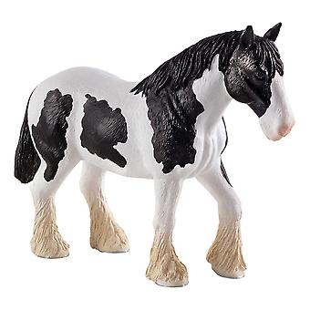 Farm Life Clydesdale Black and White Horse Toy Figure