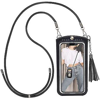 takyu Small Shoulder Phone Wallet Purse Bag, Crossbody Mobile Cell Phone Bag, Card Holder Pouch with