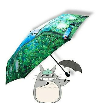 Ghibli totoro מטריית שמש גשם אנימה השכן שלי totoro חמוד מדי יום קיפול מטריה