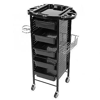 Carrinho de carrinho de rack de armazenamento com rodas para salão de beleza