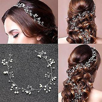 1pcs- Vintage Pearls Leaves Wedding Bridal Hair Headband