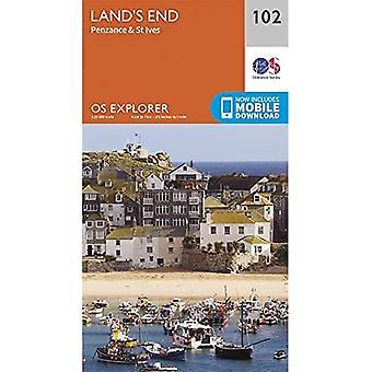 Land's End: Penzance & St Ives (OS Explorer)
