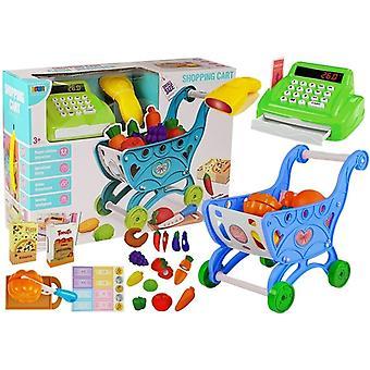 Spielzeugsupermarkt - mit Einkaufswagen - Kasse und Zubehör
