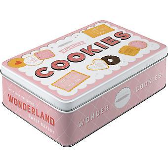 Wonder Cookies Metal Nostalgisk platt tennlåda