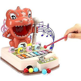 Mole Game Детская перкуссия Раннее образование Развивающие игрушки с музыкой и легкими игрушками Мальчики и девочки Нравится (оранжевый)