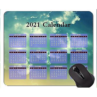 Keyboard mouse wrist rests 220x180x3 calendar for 2021 years with holidays personalized mouse pad clear sky gaming mouse mat