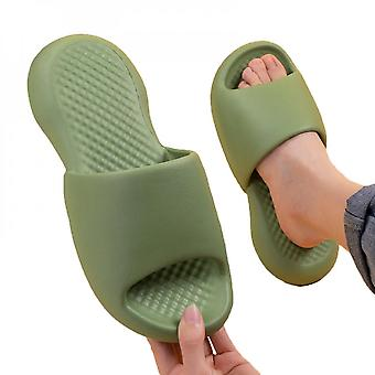 Summer Solid Color Fashion Comfortable Leisure Eva Stepping On The Shit Sense Slippers A Flip-flop Couple Models