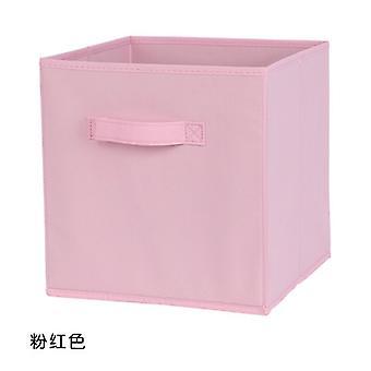 أساسيات قابلة للطي النسيج تخزين مكعبات منظم مربع التخزين