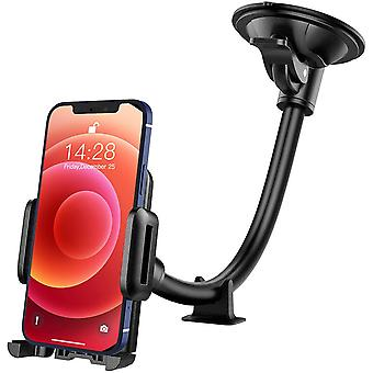 Car Phone Holder,car Holder,windscreen Car Mount Grip Flex Universal Long Arm Windshield Car Cradle With Extra Dashboard Base For Iphone12 Promax 11pr