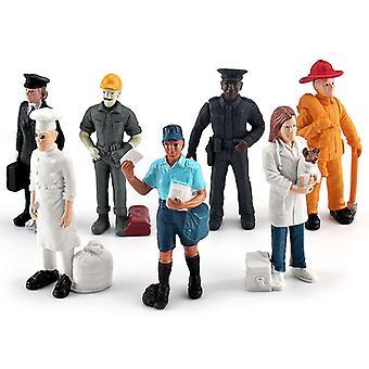 7pcs Simulation Action Figures Profession Model Doll Toys