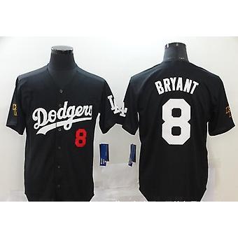 Férfi Baseball Jersey 8 24 Bryant Button Down Jersey Hipster Hip Hop Retro Baseball Jersey Black S-3xl