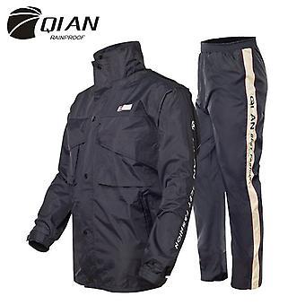 Qian-men's And Women's Waterproof Jackets, Raincoats, Outdoor Hoods, Motorcycle Raincoats