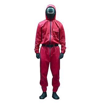 Squid Game Jumpsuits Loose Men Women Casual Solid O Neck With Pocket Jumpsuit Romper Round Six Cosplay Costumes