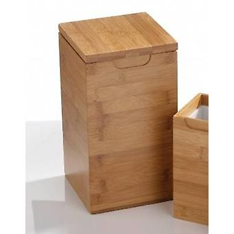 Square Large Bamboo Canister with Lid