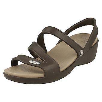 Dames Crocs Strappy Sandal 'Patricia Wedge Sandal W'