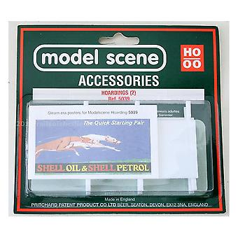 Modell-Szene Zubehör OO/HO Werbetafeln (2) - Dampflokzeit