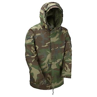 Genuino Reclaimed US Goretex Woodland Camo giacca