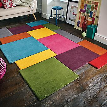 Abstract Collage Rugs In Multi