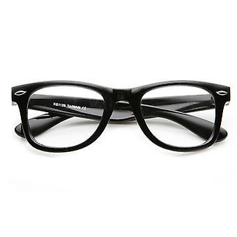 Klassischen dicken Rahmen Lichtscheibe grundlegende Horn umrandeten Brille