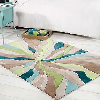 Teppiche - unendliche Splitter - Petrol / grün