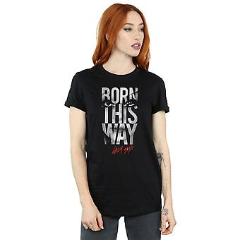 Lady Gaga Women's Born This Way Text Boyfriend Fit T-Shirt