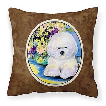 Carolines Treasures  SS8295PW1414 Bichon Frise Decorative   Canvas Fabric Pillow