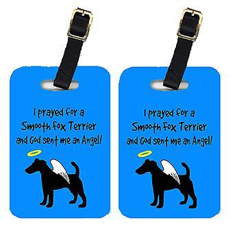 Carolines Treasures  AN1058BT Pair of 2 Fox Terrier Luggage Tags