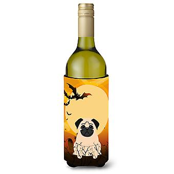 Halloween Pug Fawn Wine Bottle Beverge Insulator Hugger