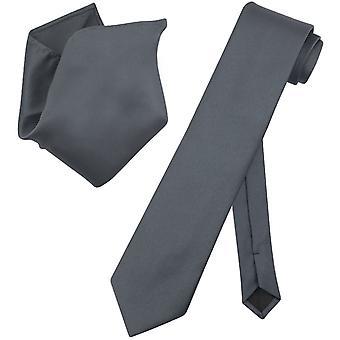 Ensemble de Vesuvio Napoli solide cravate extra-longue mouchoir col cravate