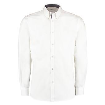 Kustom Kit Mens Contrast Premium Oxford Shirt