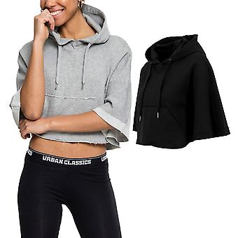 Urban classics ladies - CROPPED poncho with hood belly-free